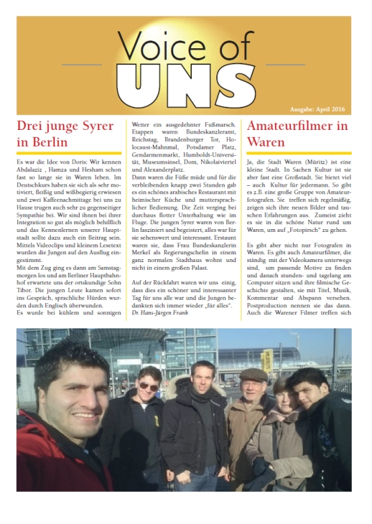 Voice of UNS April 2016