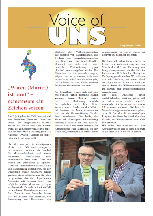 Voice of UNS Juli 2016