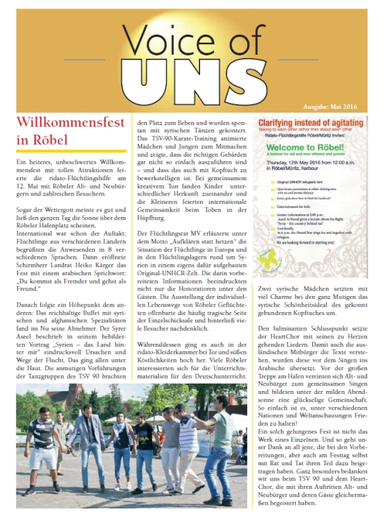 Voice of UNS Mai 2016